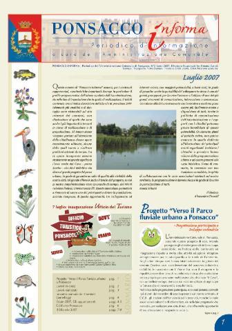 Ponsacco Informa n° 2 Anno 2007 (Luglio)