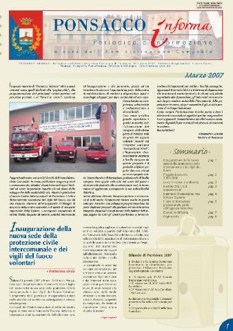 Ponsacco Informa n° 1 Anno 2007 (Marzo)