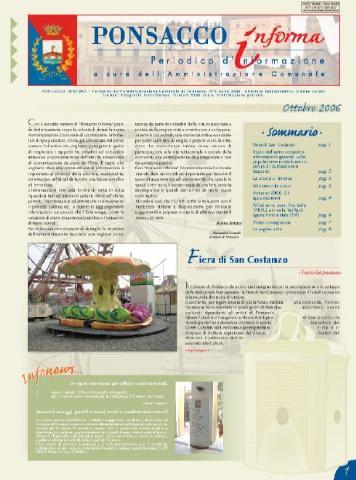 Ponsacco Informa n° 2 Anno 2006 (Ottobre)