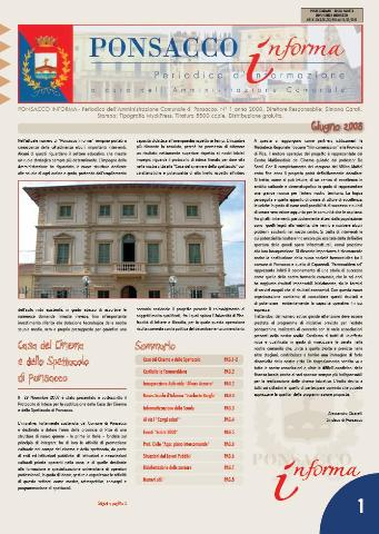Ponsacco Informa n° 1 Anno 2008