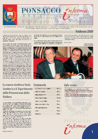 Ponsacco Informa n° 1 Anno 2009 (Febbraio)